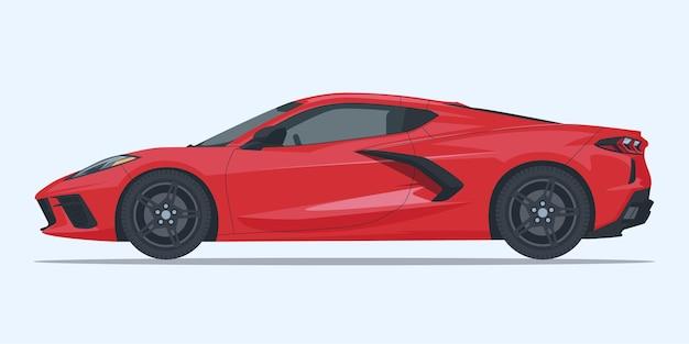 Moderne sportwagen-seitenansicht