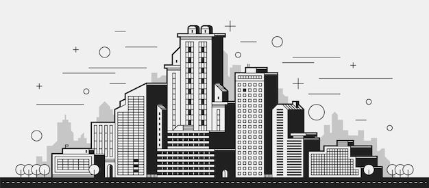Moderne stadt illustration.