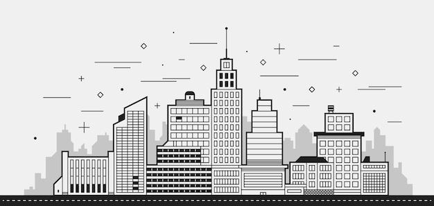 Moderne stadt illustration