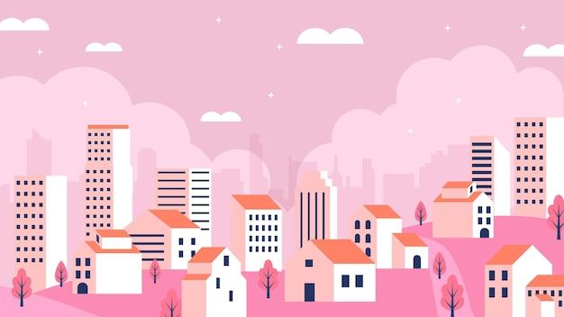 Moderne stadtillustration