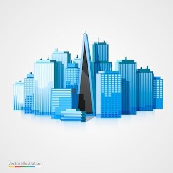 Moderne stadtlandschaftsillustration.