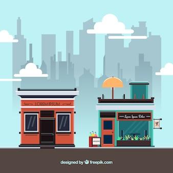 Moderne städtische restaurants