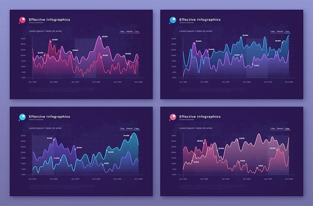 Moderne statistische diagramme, grafiken, diagramme.