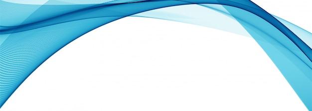 Moderne stilvolle blaue wellenfahne