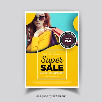Moderne super sale flyer vorlage
