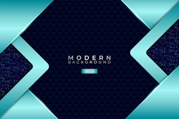 Moderne technologie hintergrund überlappt futuristisches 3d glänzendes hellblau mit glitzer