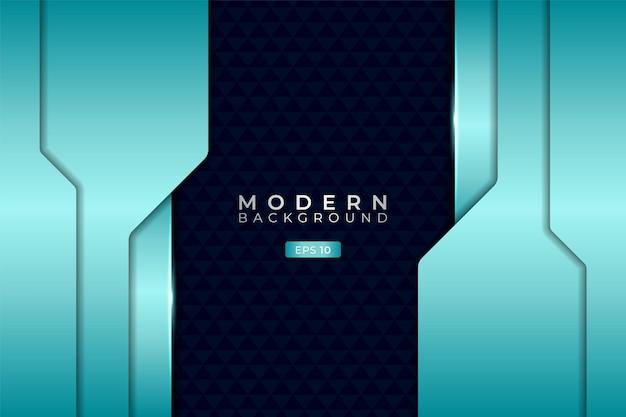 Moderne technologie hintergrund überlappte schicht futuristisch 3d glänzend hellblau