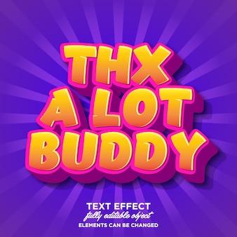 Moderne textart für dankesgruß