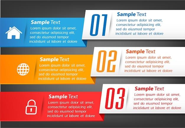 Moderne textbox banner infografiken