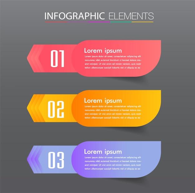 Moderne textbox vorlage infografik banner infografik timeline