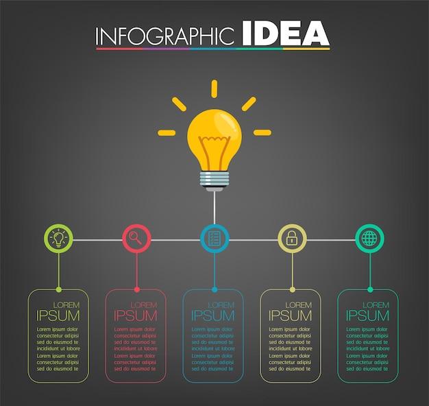 Moderne textbox-vorlage, infografik-banner, zeitleiste