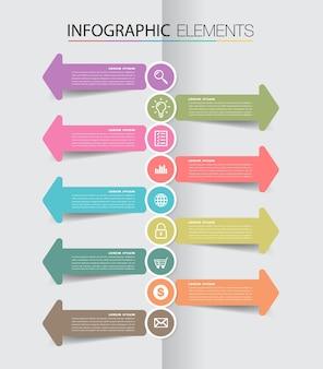 Moderne textbox vorlage timeline infografik banner