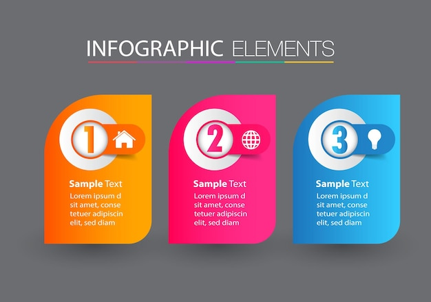 Moderne textfeldvorlage, banner infografiken