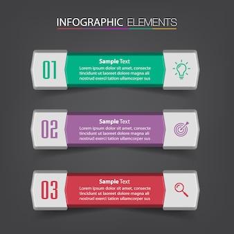 Moderne textfeldvorlage banner infografiken