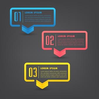 Moderne textfeldvorlage, infografiken
