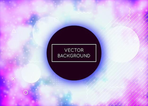 Moderne textur. retro-fluoreszierende kulisse. sommer punkte. minimales design. violetter magischer hintergrund. lebendige flyer. rundes plakat. abstraktes muster. blaue moderne textur