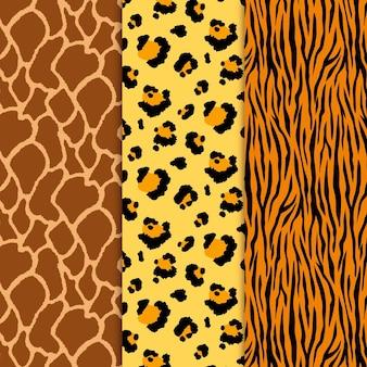 Moderne tierdruckmusterkollektion