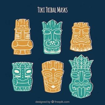 Moderne tiki tribal masken