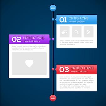 Moderne timeline-design-vorlage