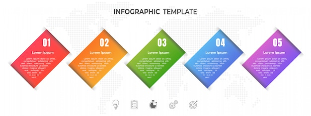 Moderne timeline infografik optionen oder schritt.