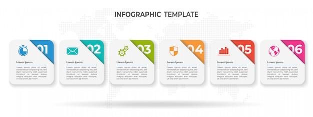 Moderne timeline-infografik-optionen.