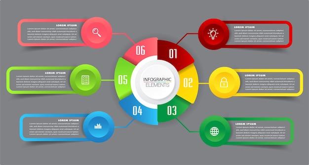 Moderne timrline textfeld vorlage infografik banner