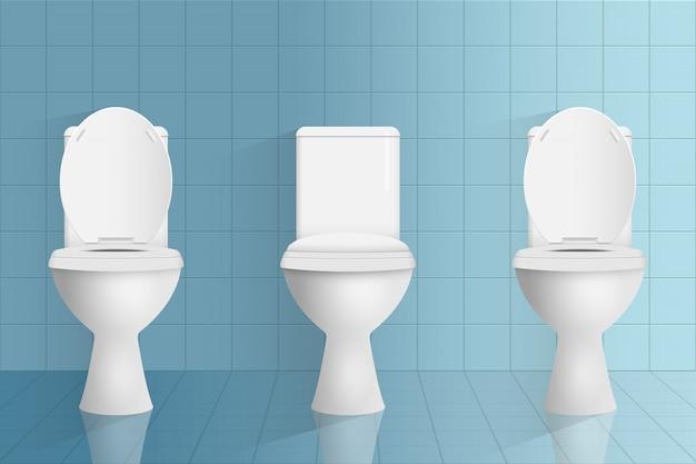 Moderne toilettenillustration