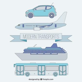 Moderne transportpackung