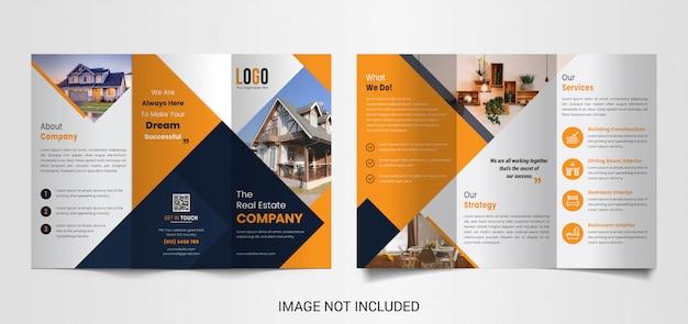 Moderne trifold-broschürenvorlage für immobilien