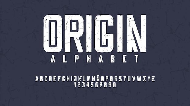 Moderne typografie mit abgenutztem effekt