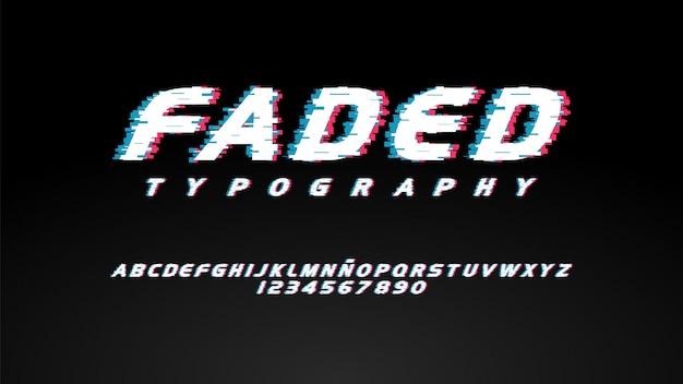 Moderne typografie mit glitch-effekt