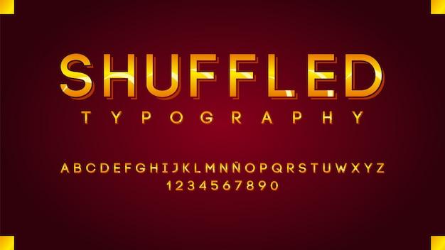 Moderne typografie mit goldenem linieneffekt