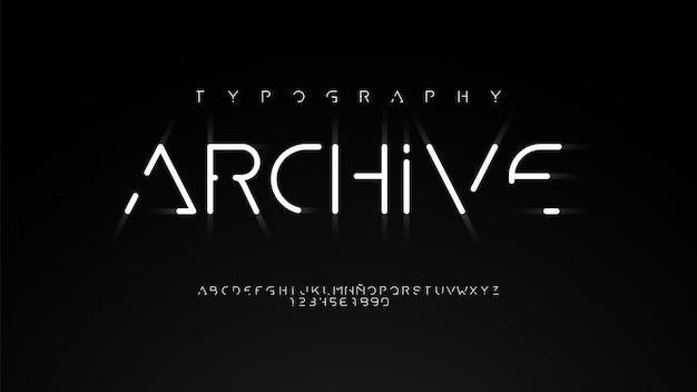 Moderne typografie mit schönem linieneffekt