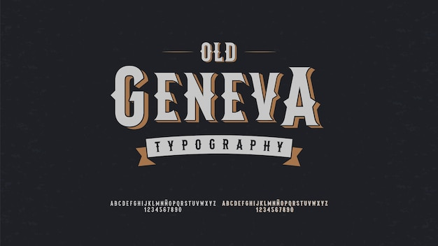Moderne typografie mit vintage-konzept