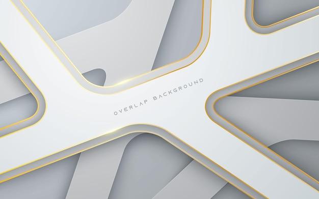 Moderne überlappungsschicht weißer hintergrund multidimensional