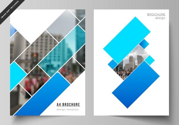 Moderne umschlagvorlagen im a4-format für broschüren