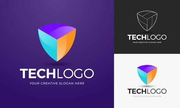 Moderne und abstrakte logo-vorlage, bunt und hell. bearbeitbarer vektor