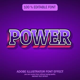 Moderne und futuristische schrift mit coolem effekt