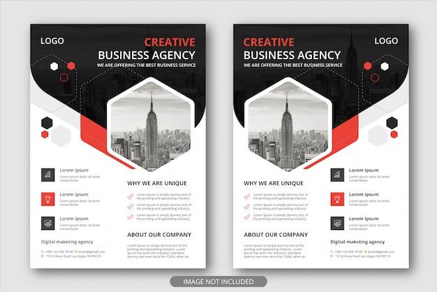 Moderne und kreative geschäftsförderungs-flyer-vorlagen