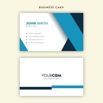 Moderne und saubere minimale visitenkartenvorlage für unternehmen