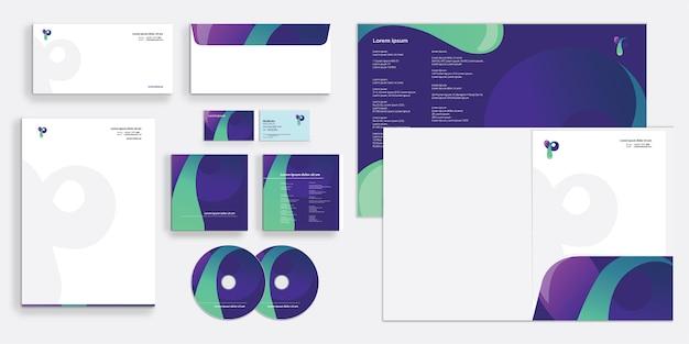 Moderne und schlanke corporate business identity stationär