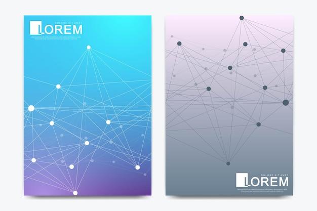 Moderne vektorschablone für broschüre