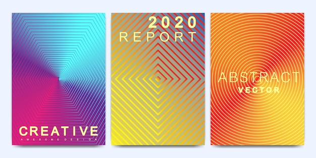 Moderne vektorvorlage für broschüre, broschüre, flyer, cover, katalog, magazin oder jahresbericht im a4-format. heller abstrakter musterhintergrund mit linienstruktur und farbverläufen