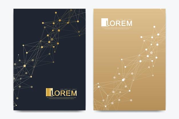 Moderne vektorvorlage für broschüren-flyer-cover-banner-katalog-magazin oder jahresbericht in ...
