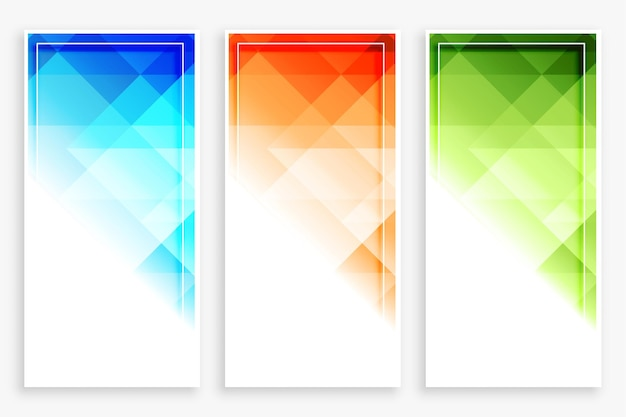 Moderne vertikale abstrakte banner des geschäftsstils gesetzt