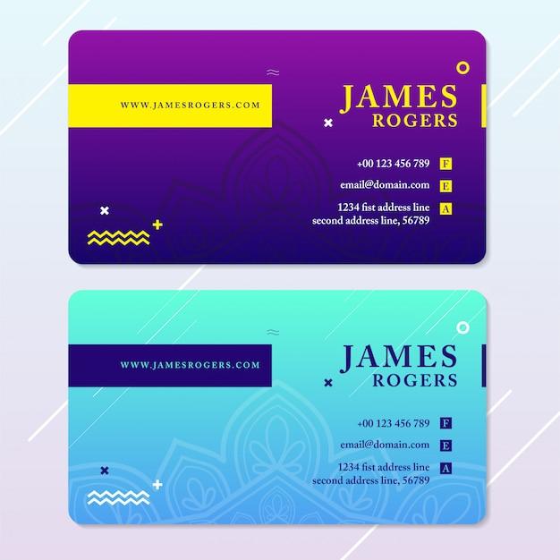 Moderne visitenkarte-lila blaue farbe