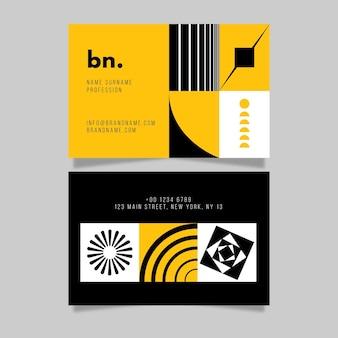 Moderne visitenkarte mit abstrakten formen