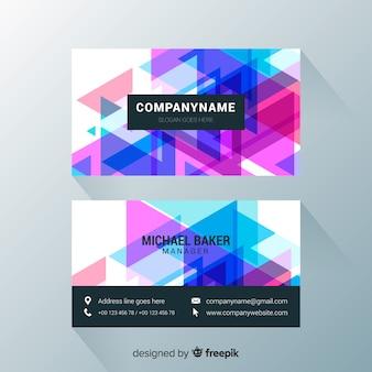 Moderne visitenkarte mit abstrakter auslegung