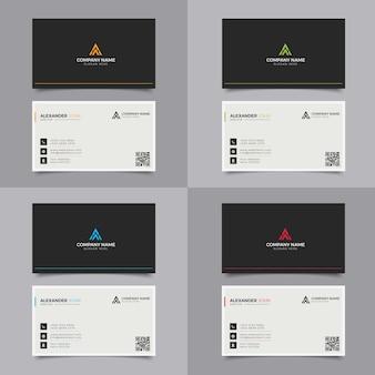 Moderne visitenkarte schwarz-gelb corporate professional