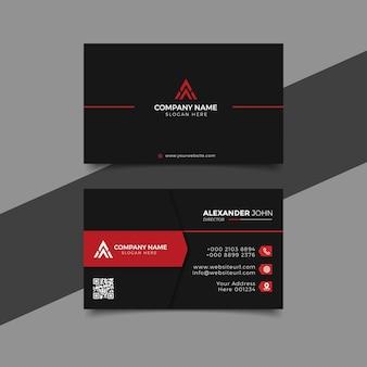Moderne visitenkarte schwarz und schilf corporate professional